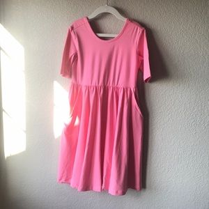 Hanna Andersson pink twirl dress. NWT